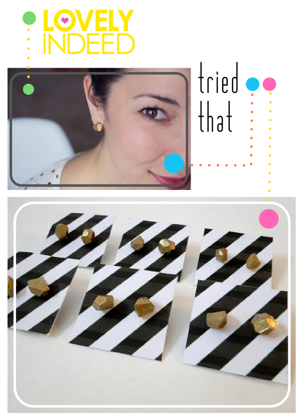 Tried That - Lovely Indeed Gold Nugget Studs