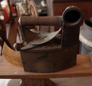Hot coal iron