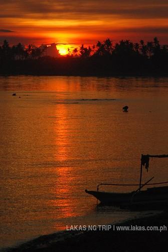 Sunset at the port of San Fernando, Sibuyan Island, Romblon