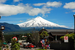 Pucon andVillarrica volcano in the background