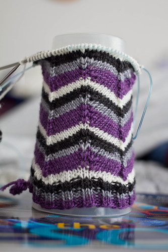 Jaywalker socks: in progress