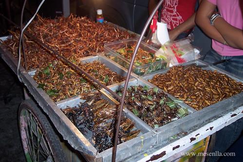 Insectos preparados para comer