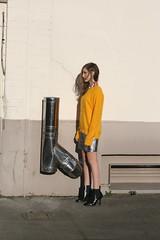 footwear, clothing, yellow, white, photograph, limb, leg, fashion, standing, photo shoot, beauty, black,