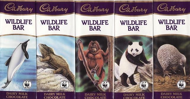 Cadburys Animal Chocolate Bars