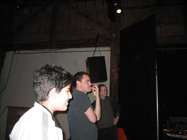 Aaron Swartz, Glenn Brown, Larry Lessig, preparing CC Launch – December 2002