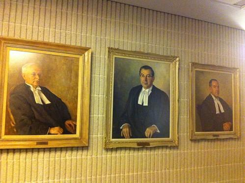 Au palais de justice