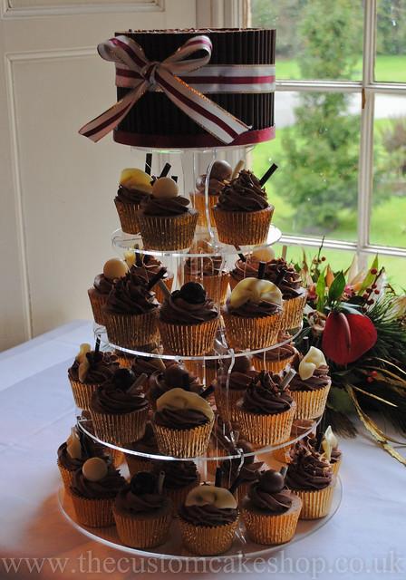 Wedding Chocolate Cupcake Tower   A chocolate lovers cupcake ...