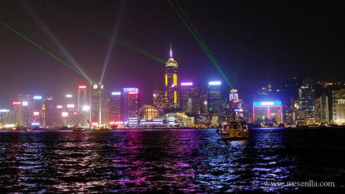 Espectáculo de luz y sonido de Hong Kong