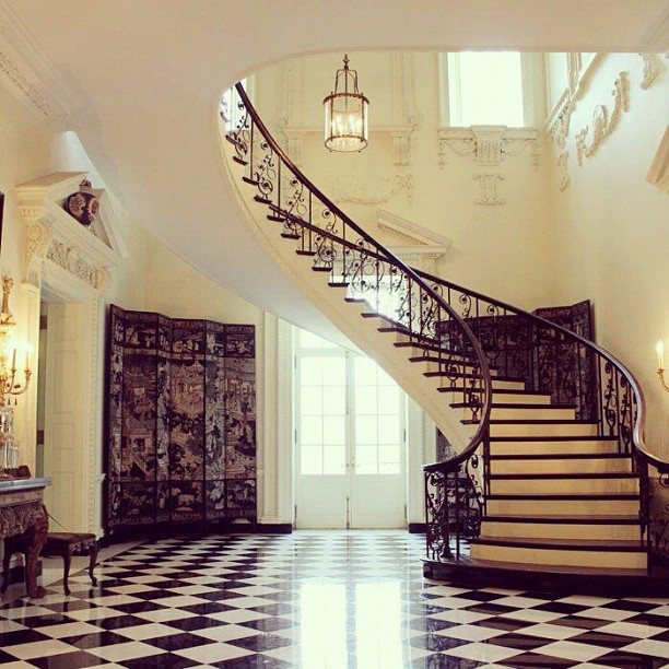Staircase inside the AHC's Swan House | Flickr - Photo ...