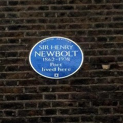 Photo of Henry Newbolt blue plaque