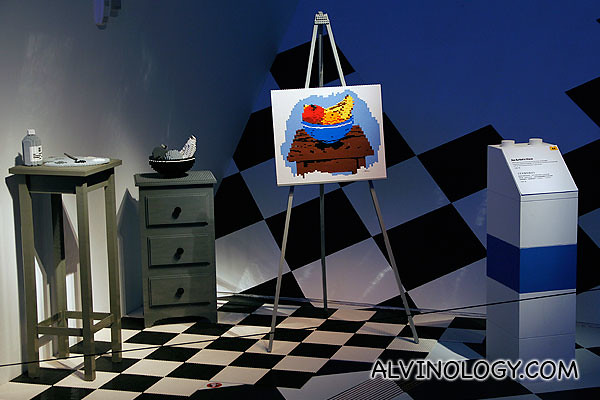 Painting and subjects made of LEGO bricks