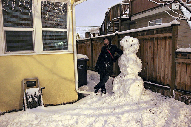 travis and his giant snowman
