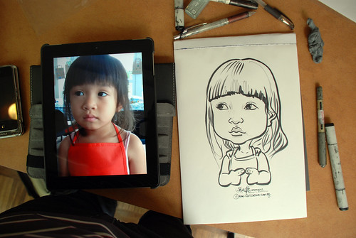 caricature sketching for a birthday party 07072012 - 4