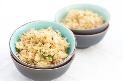 Praetud riivitud lillkapsas ehk lillkapsariis / Cauliflower rice