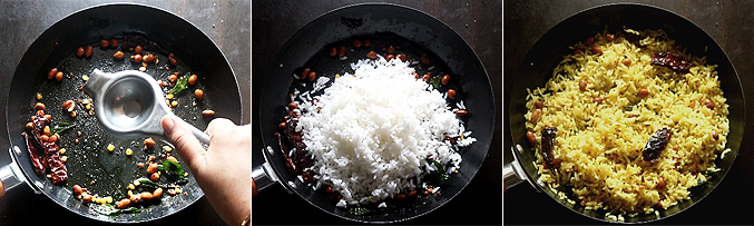 How to make lemon rice recipe - Step3