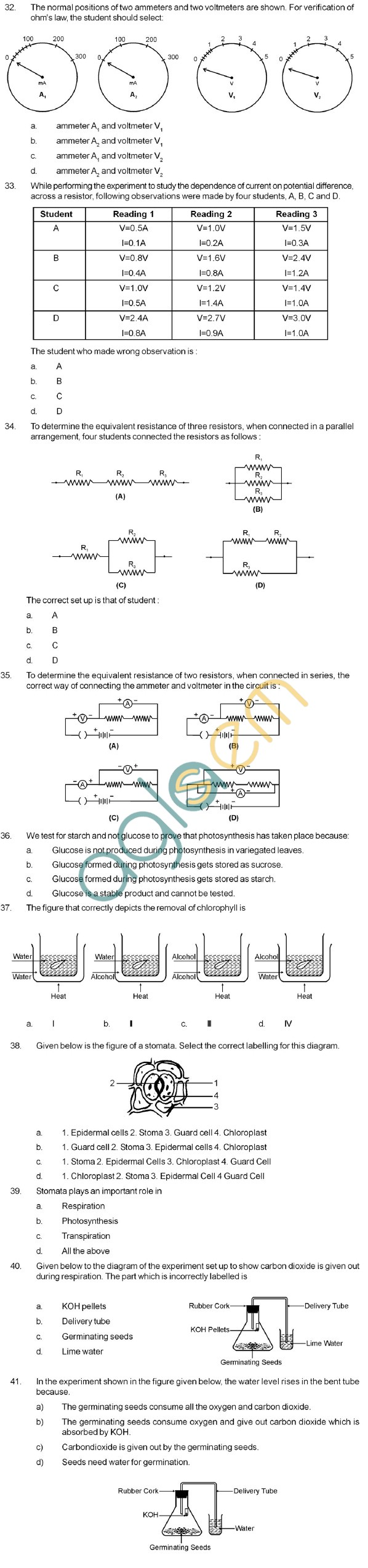 CBSE VII Hots Science Questions