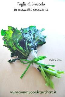 Foglie di broccolo croccanti