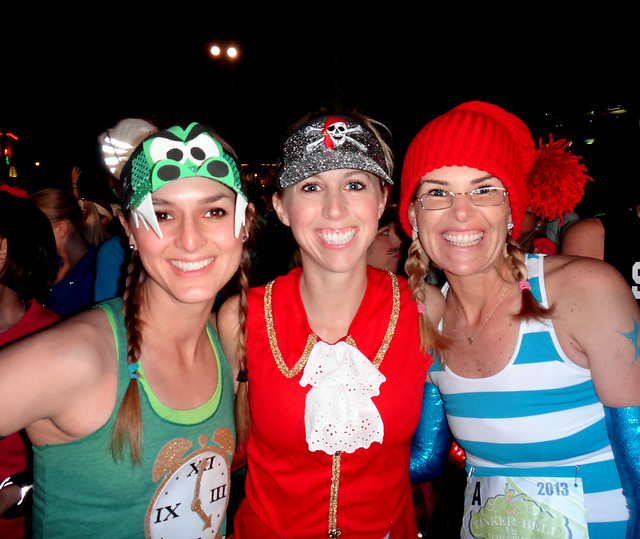 Team Sparkle {Carrie, Elise, and Kelly} at the runDisney Tinker Bell Half Marathon 2013