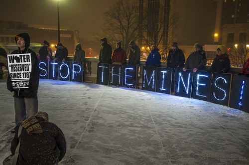 Idle No More and Overpass Light Brigade, Mining Testimony at the Capitol Madison, Wisconsin 1/23/13.