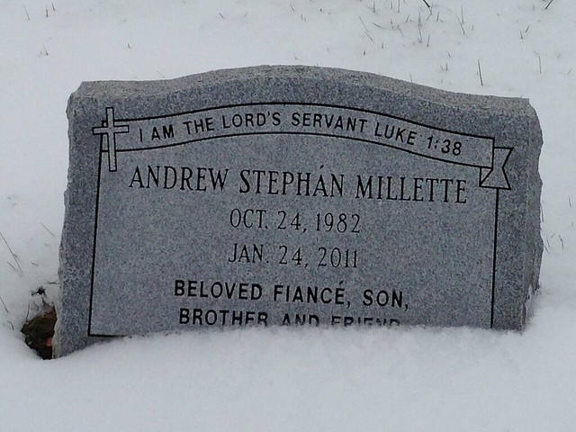 Andrew Millette grave