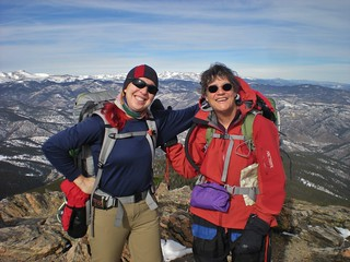 Clare & Linda Summit Chief Mountain