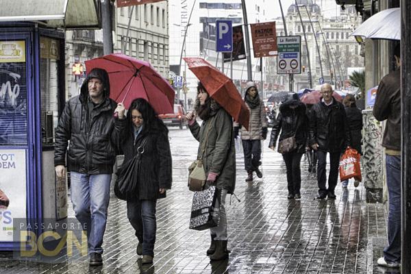 chuva em Barcelona