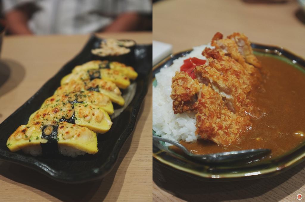 Sushi Zanmai - Tamago Mentai+Chicken Katsu Curry