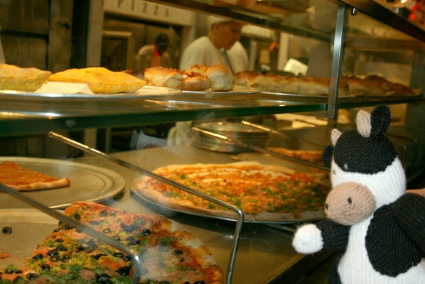 Cow and Pizza. Yum!