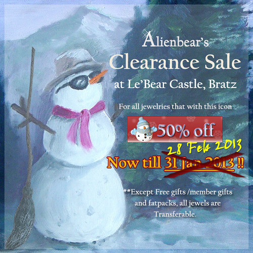 Extension Alienbear's 2012 clearence sale