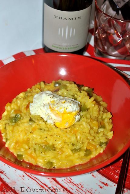 Risotto ai peperoni, zafferano e uovo (2)