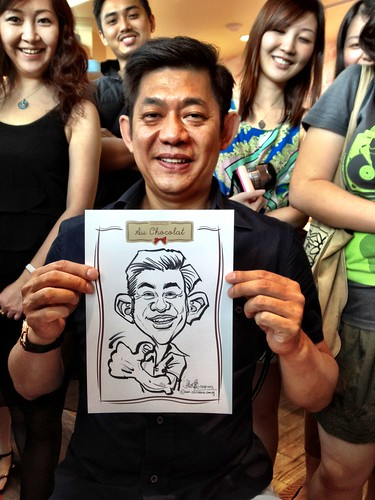 caricature live sketching for Au Chocolat Opening - Day 2 - 20