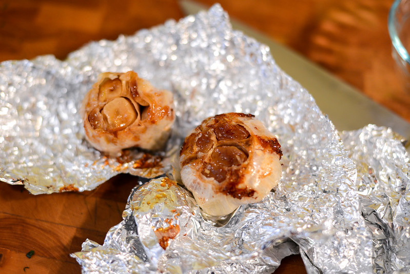 Roasted Garlic and Mint Pesto Stuffed Leg of Lamb