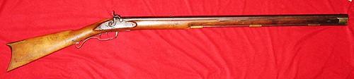 Full Length View, S. D. Hinsdale Fullstock Plains Rifle - 1840's
