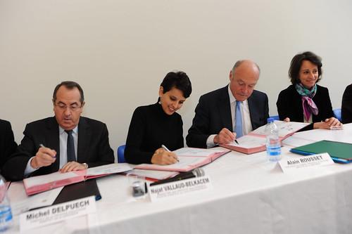 Visite de Catherineau et Convention Egalité f-h en Aquitaine