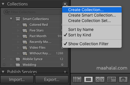 Create Lightroom Collection