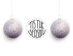 sphere, christmas decoration, glitter, pendant,