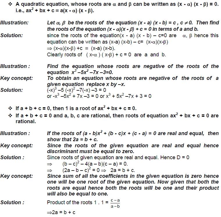 Quadratic Equations Notes