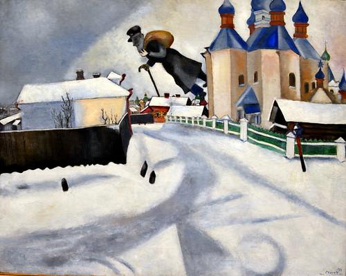 Marc Chagall - Au dessus de Witebsk, 1922 at Kunsthaus Zürich - Zurich Switzerland by mbell1975