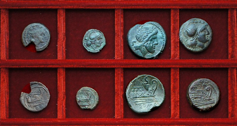 RRC 106 staff and club bronzes and related anonymous bronzes McCabe group E1, Ahala collection, coins of the Roman Republic