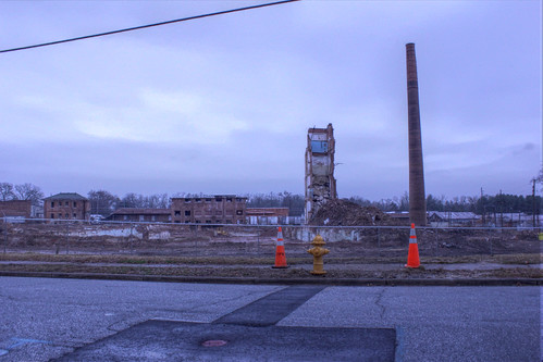 4:42 PM: What's left of the mill---WIll be gone at the end of the week
