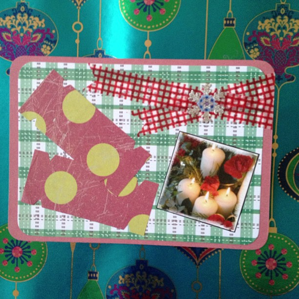 #crackers #washitape #candles #postcard #snailmail