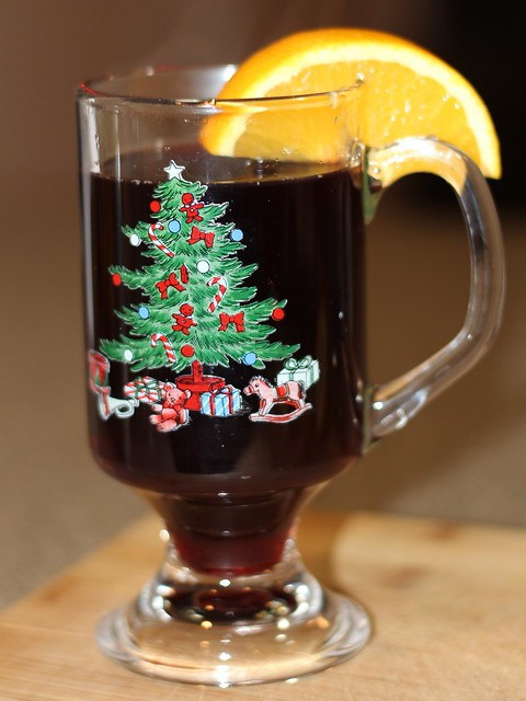 A warm mug of mulled wine