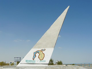 Monumento conmemorativo en Moynaq