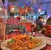 Vietnamese Restaurant Panorama with Shrimp Chow Mein by Walker Dukes