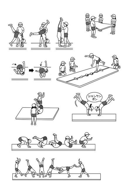 小学館「小三教育技術」(マット運動の指導法)-1