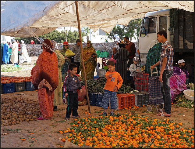 Children love the market day