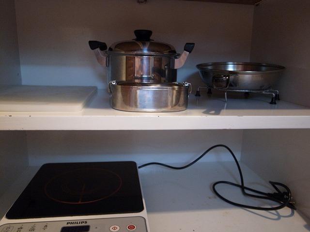 <p>電磁調理器・鍋・フライパン</p>