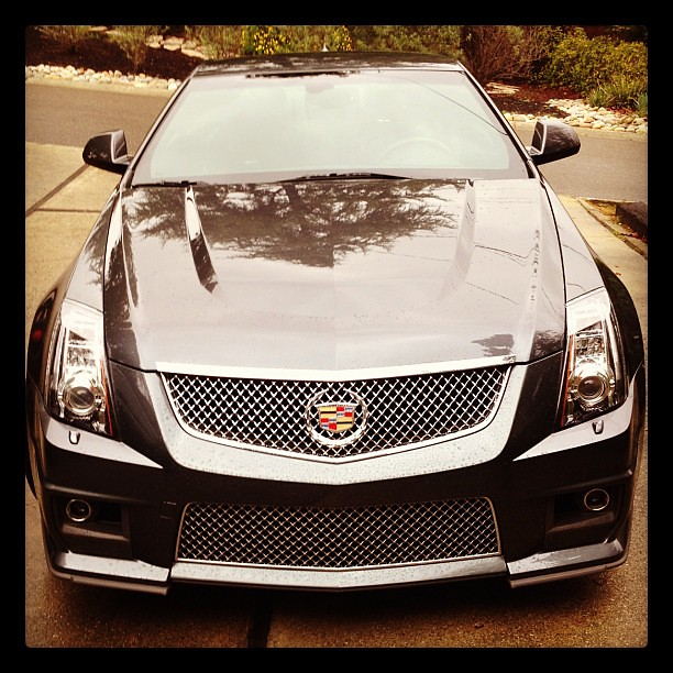 Loving My Test Drive Of The 2012 #Cadillac CTS-V Coupe! So Much Power!