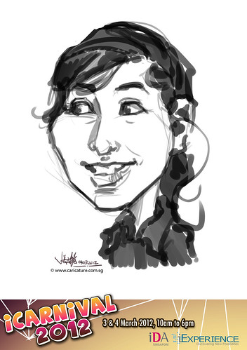 digital live caricature for iCarnival 2012  (IDA) - Day 2 - 5