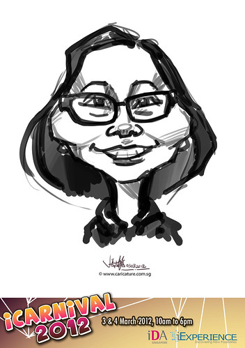 digital live caricature for iCarnival 2012  (IDA) - Day 1 - 15